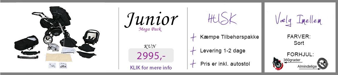 Banner af junior barne kombivogn